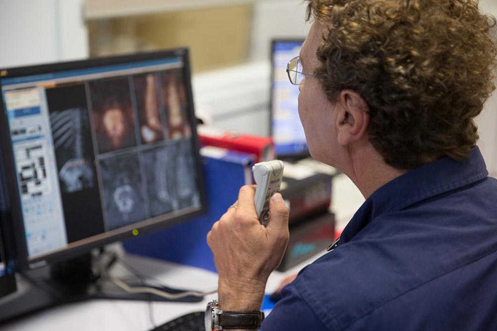 Interprétation d'une scintigraphie osseuse couplée à la tdm