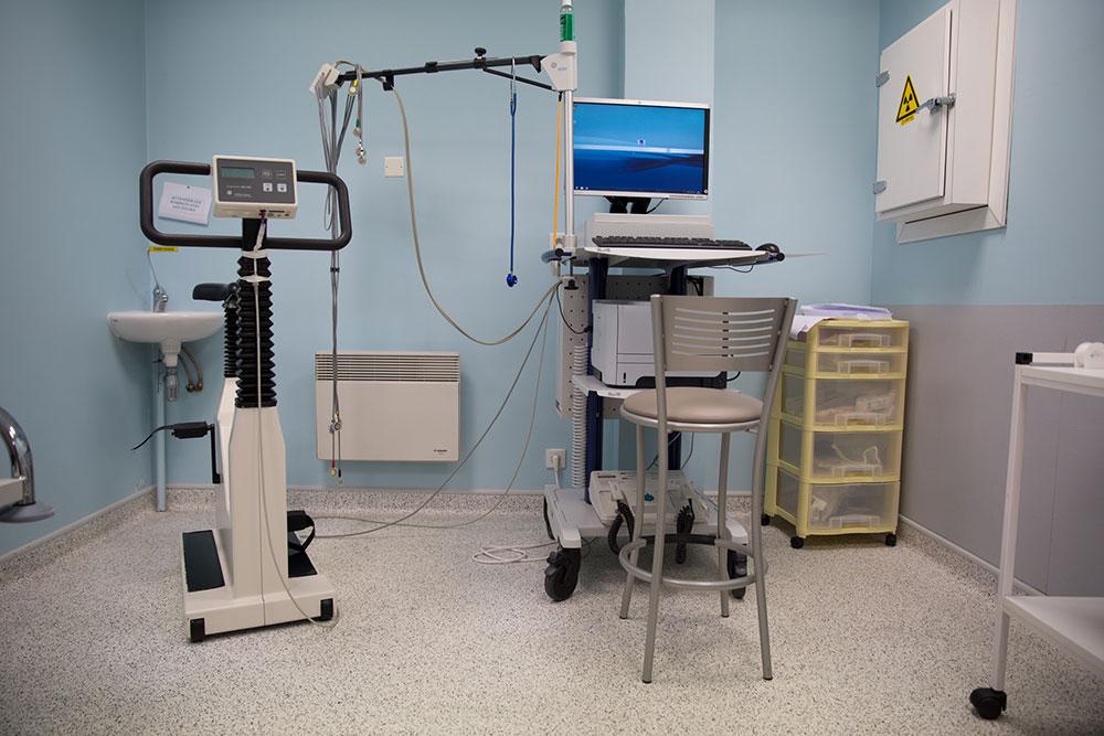 Salle pour les épreuves d'effort réalisées par le cardiologue